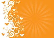 Spring swirls. Abstract orange iliustration of springtime stock illustration