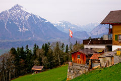 Spring in Swiss Alps Royalty Free Stock Photography