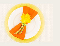 Spring table place setting Stock Photos