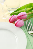 Spring Table Setting Royalty Free Stock Photo