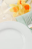 Spring Table Setting Royalty Free Stock Photography