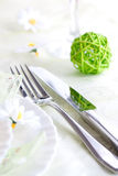 Spring table setting Royalty Free Stock Photos