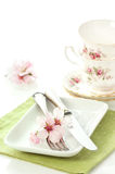 Spring Table Setting Stock Photo