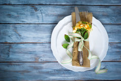 Spring Table setting Royalty Free Stock Images