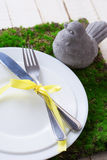 Spring table setting. Royalty Free Stock Photography