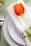 Spring table settings Royalty Free Stock Photos