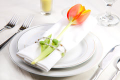 Spring table settings Royalty Free Stock Photography