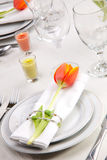 Spring table settings Royalty Free Stock Photo