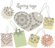 Spring tags Stock Photography