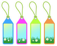 Spring tags Royalty Free Stock Photography