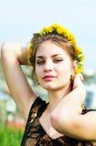 Spring teen girl Stock Photos