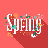 Spring text design concept card Stock Photos