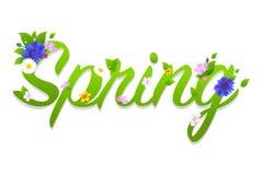 Spring Text vector illustration
