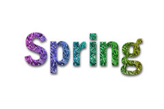 Spring text with white background Stock Image