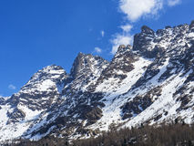 Spring thaw. In the Italian alps royalty free stock photo