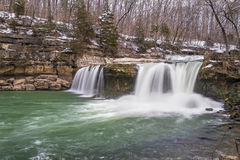 Spring Thaw at Upper Cataract Falls Stock Photography