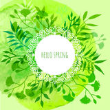 Spring theme. Floral greeting card with Stock Photography