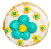 Spring Theme Frosted Cookie   Royalty Free Stock Photo