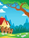 Spring theme landscape Stock Images