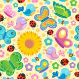 Spring theme seamless background  Stock Photo
