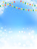 Spring themed buntings and blue sky design Royalty Free Stock Photo