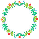 Spring themed floral circular frame Stock Photo
