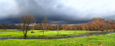 Spring Thunderstorm Landscape Illinois Stock Images
