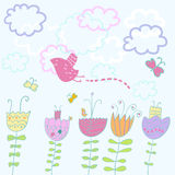 Spring time. Nice spring composition in pastel colors Royalty Free Stock Photos