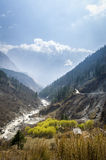 Spring time in Annapurna region, central Nepal Royalty Free Stock Images