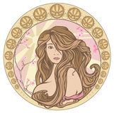 Art Nouveau spring vector Royalty Free Stock Photography