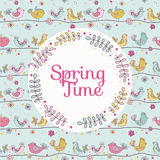 Spring Time Card Royalty Free Stock Photography