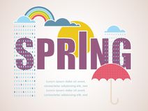 Spring time card Royalty Free Stock Photos