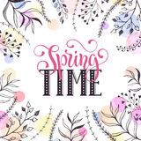 Spring time card Royalty Free Stock Images
