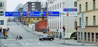 Road_capture of Turku royalty free stock photos