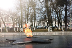 Spring time eternal flame monument Stock Images
