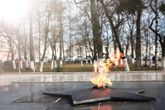 Spring time eternal flame monument Royalty Free Stock Photography