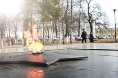 Spring time eternal flame monument Royalty Free Stock Photos