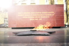 Spring time eternal flame monument Stock Photos