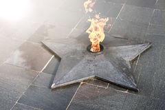 Spring time eternal flame monument Royalty Free Stock Images