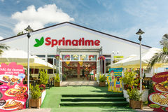 Spring Time Fast Food Restaurant Stock Image