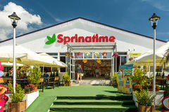 Spring Time Fast Food Restaurant Royalty Free Stock Photo