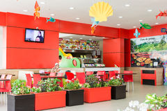 Spring Time Fast Food Restaurant Royalty Free Stock Photography