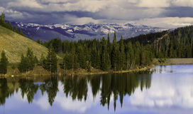 Spring time in the Gallatin Mountain Range stock images