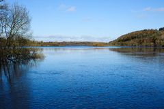 Spring time on the lake. Beautiful day on a Spring time on the lake in Killykeen Forest Park, Lough Oughter is situated in County Cavan, Ireland Royalty Free Stock Photography