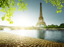 Spring time in Paris. Eiffel tower Stock Image