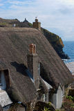 Cadgwith Cove Village Cornwall. Spring time in the picturesque fishing village of Cadgwith Cove in Cornwall Stock Photography