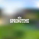 Spring time poster, vector web and mobile Royalty Free Stock Photo