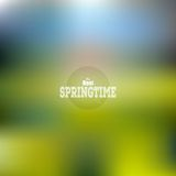Spring time poster, vector web and mobile Stock Image