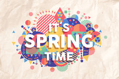 Spring time quote poster design Stock Photography