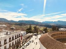 Spring time in spain. South of spain. Spring time in ronda malaga spain, mountains and sky. Nature is green Stock Image